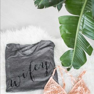 Ily Couture Tops - Wifey Tee